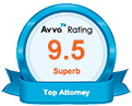 Avvo 9.5 Superb Rating Badge